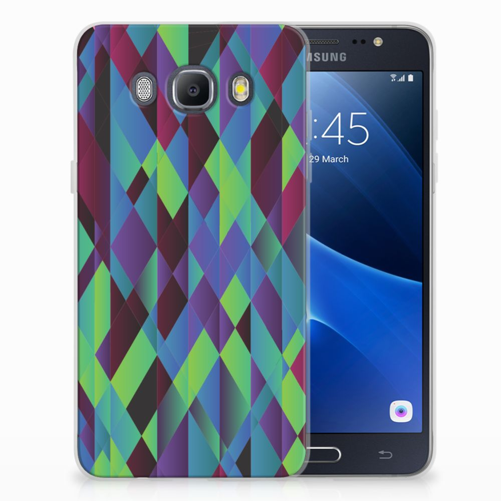 Samsung Galaxy J5 2016 TPU Hoesje Abstract Green Blue