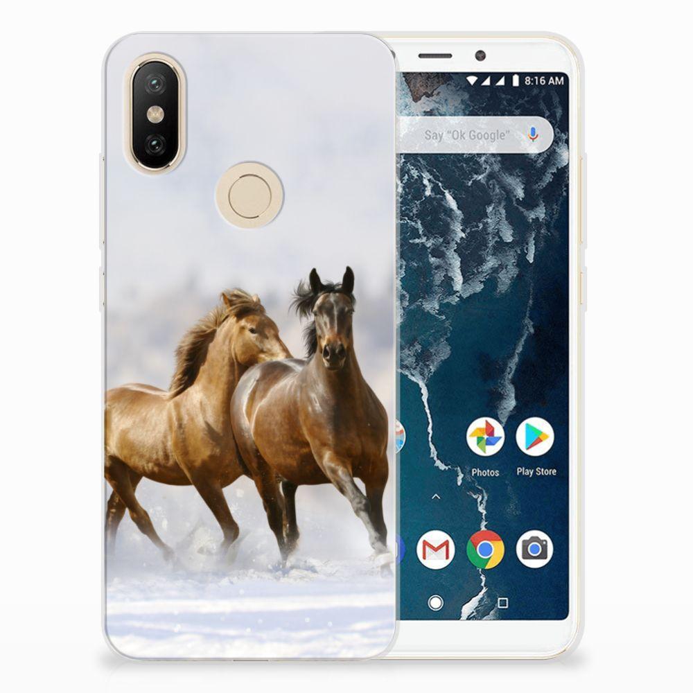 Xiaomi Mi A2 TPU Hoesje Paarden
