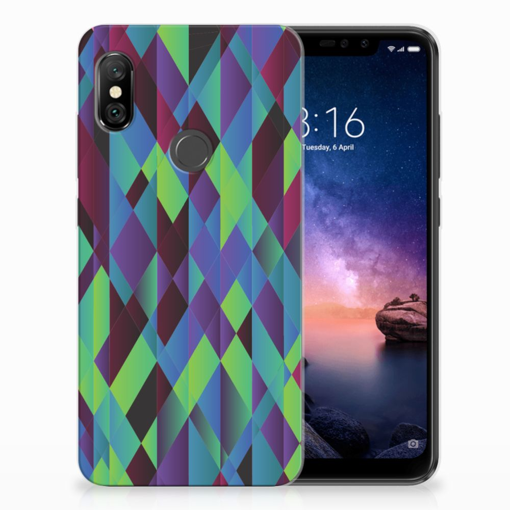 Xiaomi Redmi Note 6 Pro TPU Hoesje Abstract Green Blue