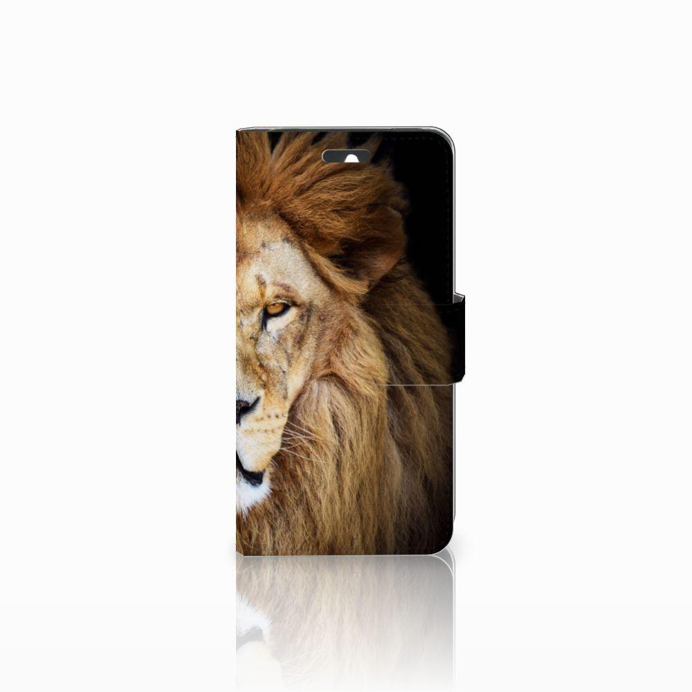 Huawei Ascend Y550 Telefoonhoesje met Pasjes Leeuw