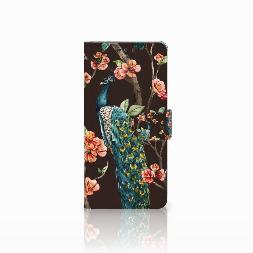 Huawei Mate 20 Boekhoesje Design Pauw met Bloemen