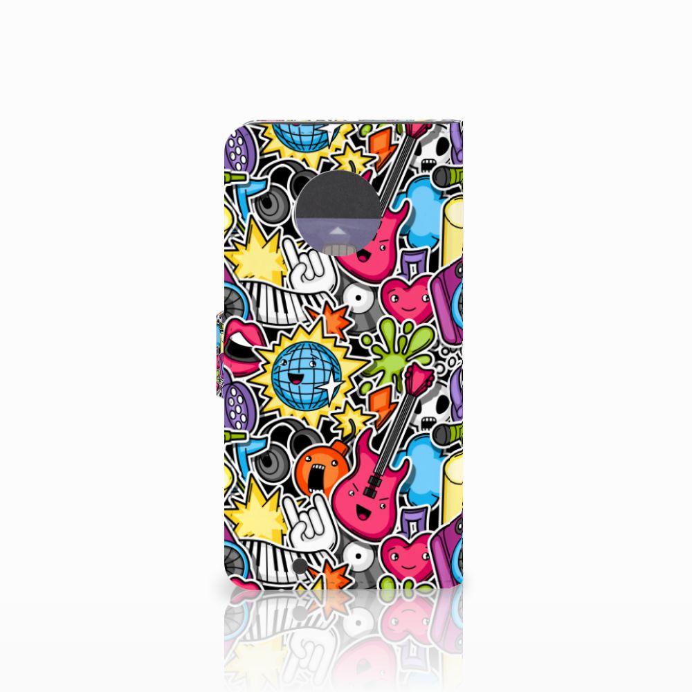 Motorola Moto G6 Wallet Case met Pasjes Punk Rock