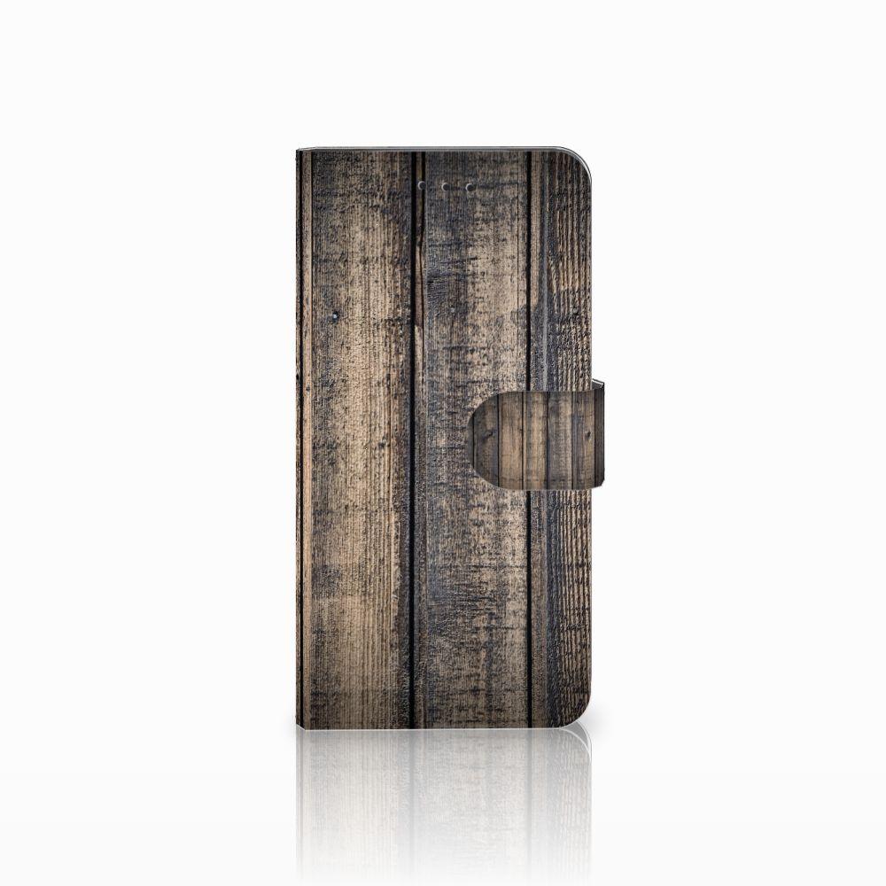 Motorola Moto E5 Play Boekhoesje Design Steigerhout