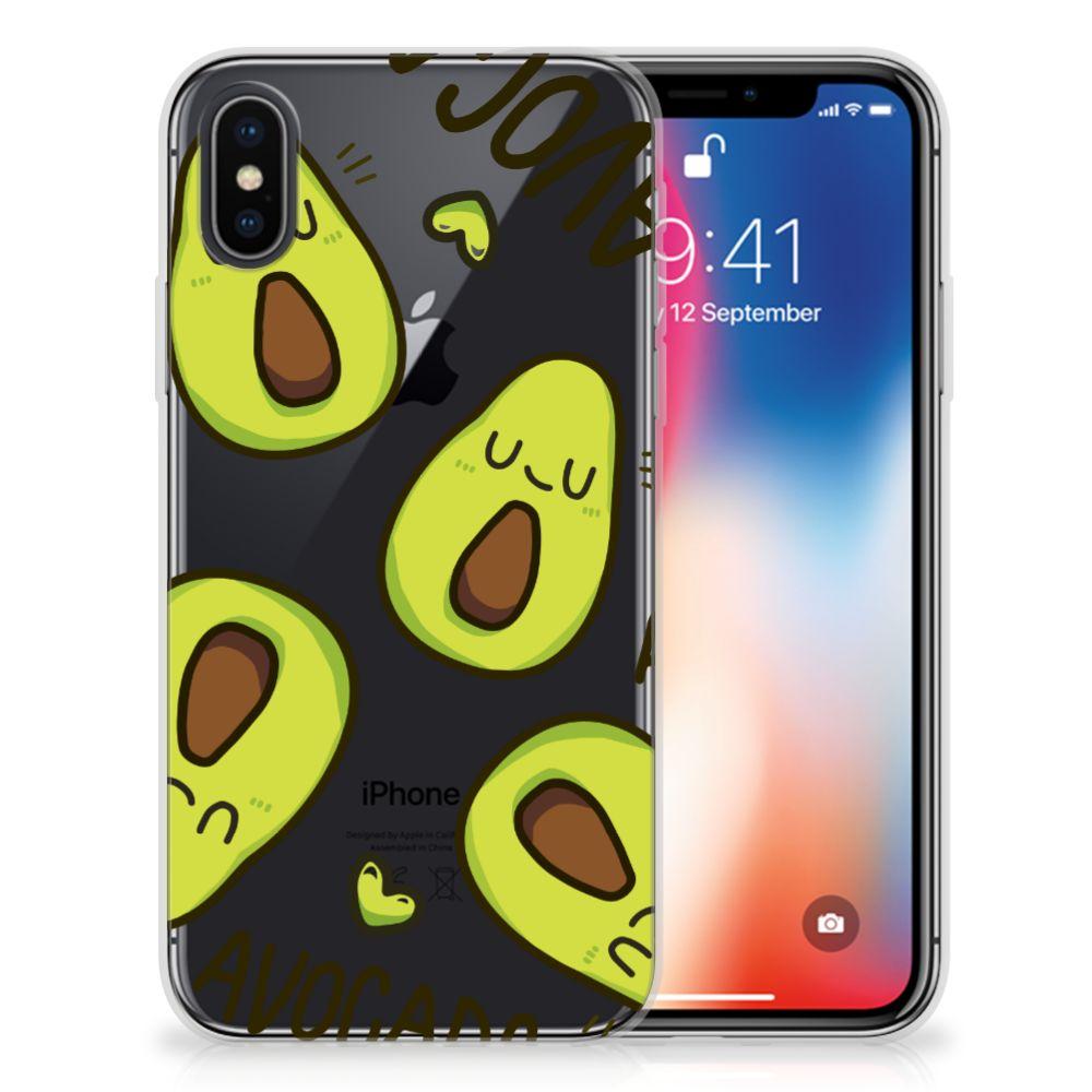 Apple iPhone X | Xs Uniek TPU Hoesje Avocado Singing