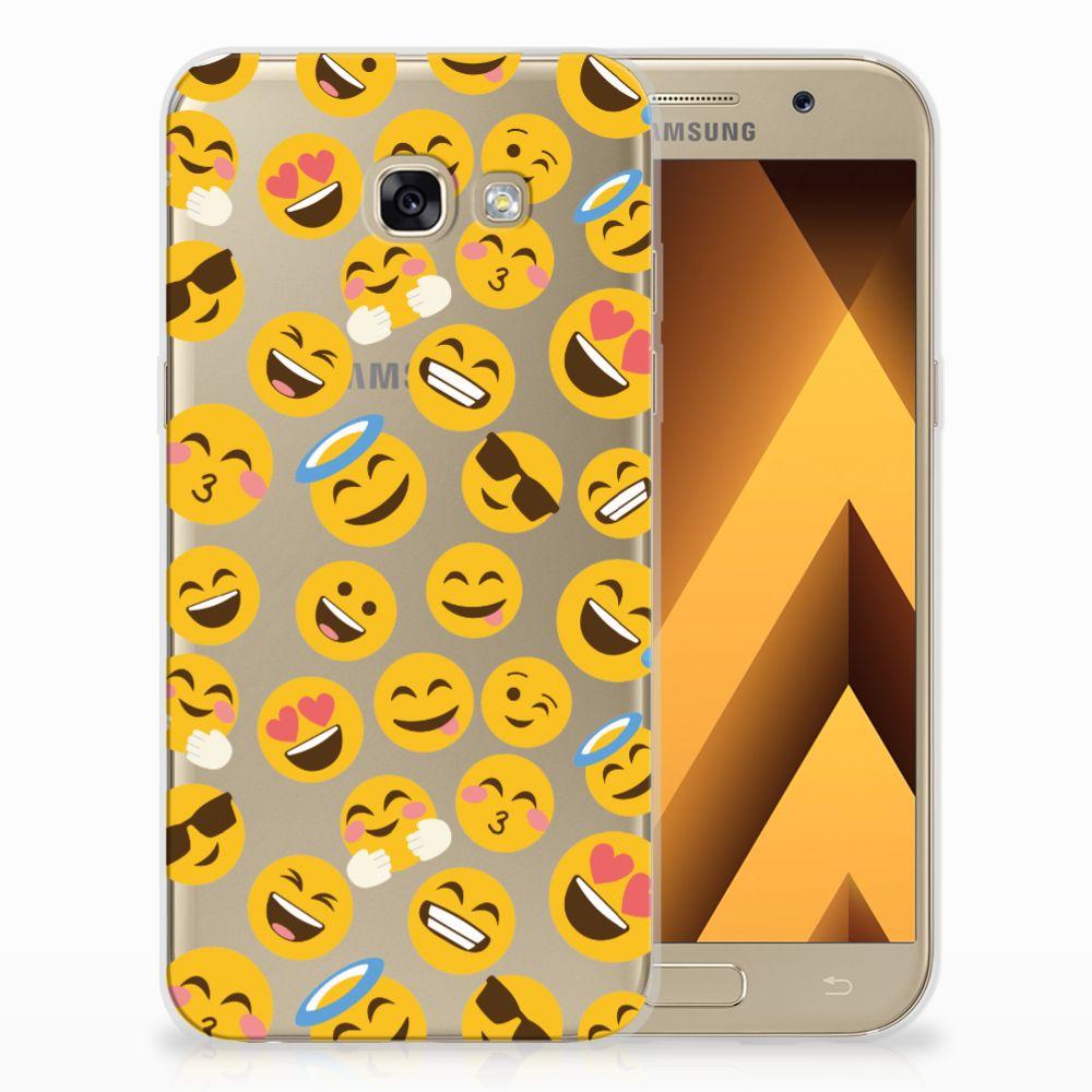 Samsung Galaxy A5 2017 TPU Hoesje Design Emoji