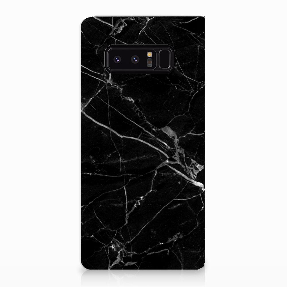 Samsung Galaxy Note 8 Uniek Standcase Hoesje Marmer Zwart