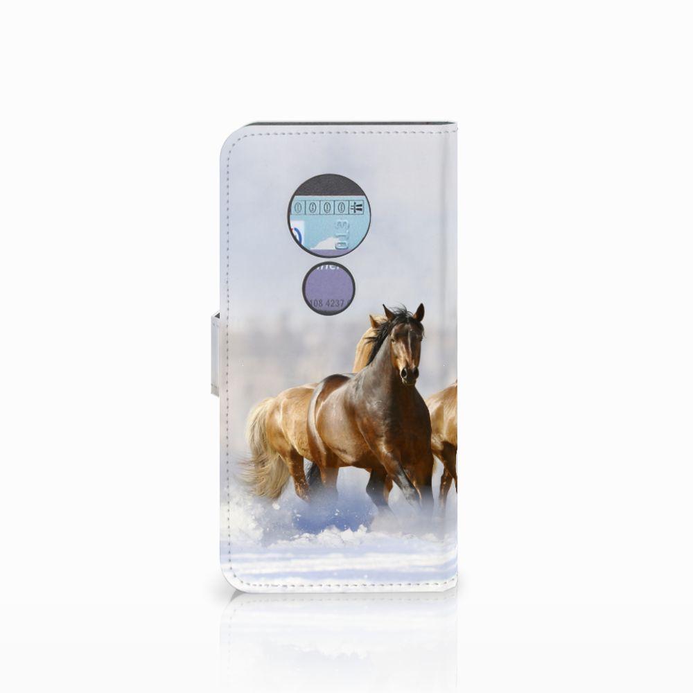 Motorola Moto G6 Play Telefoonhoesje met Pasjes Paarden