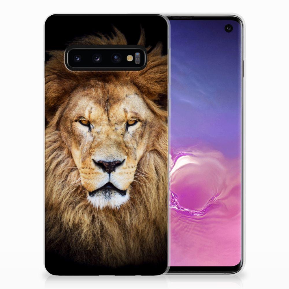 Samsung Galaxy S10 TPU Hoesje Leeuw