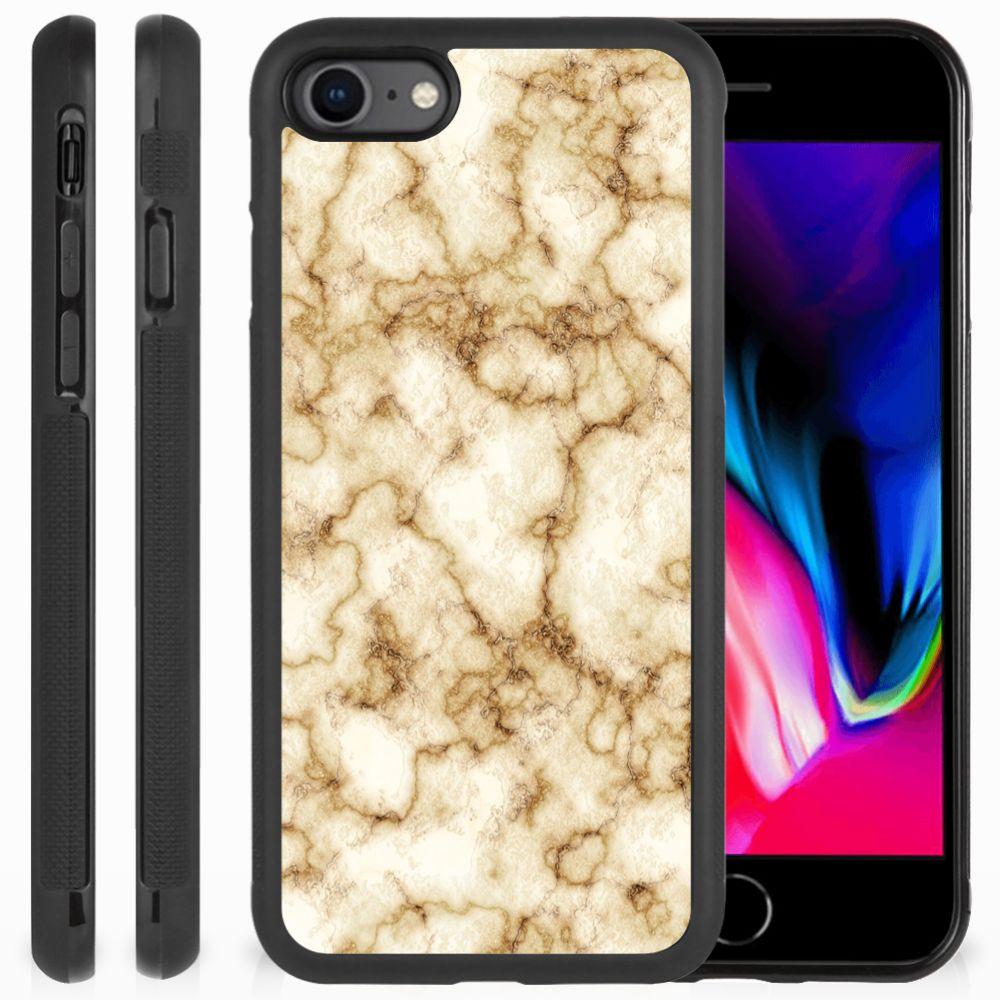 Apple iPhone 7 | 8 Gripcase Marmer Goud