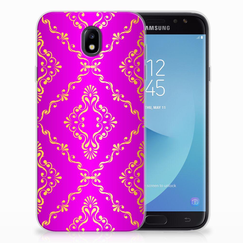 Samsung Galaxy J7 2017 | J7 Pro Uniek TPU Hoesje Barok Roze