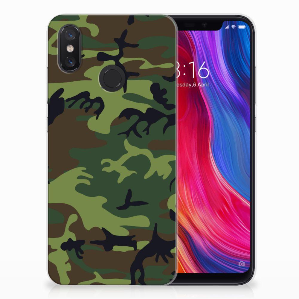Xiaomi Mi 8 TPU Hoesje Design Army Dark