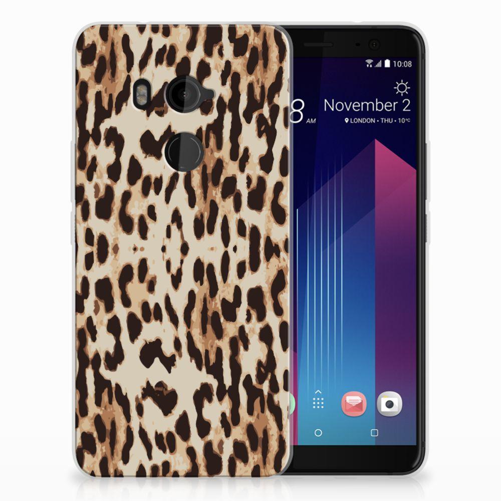HTC U11 Plus Uniek TPU Hoesje Leopard