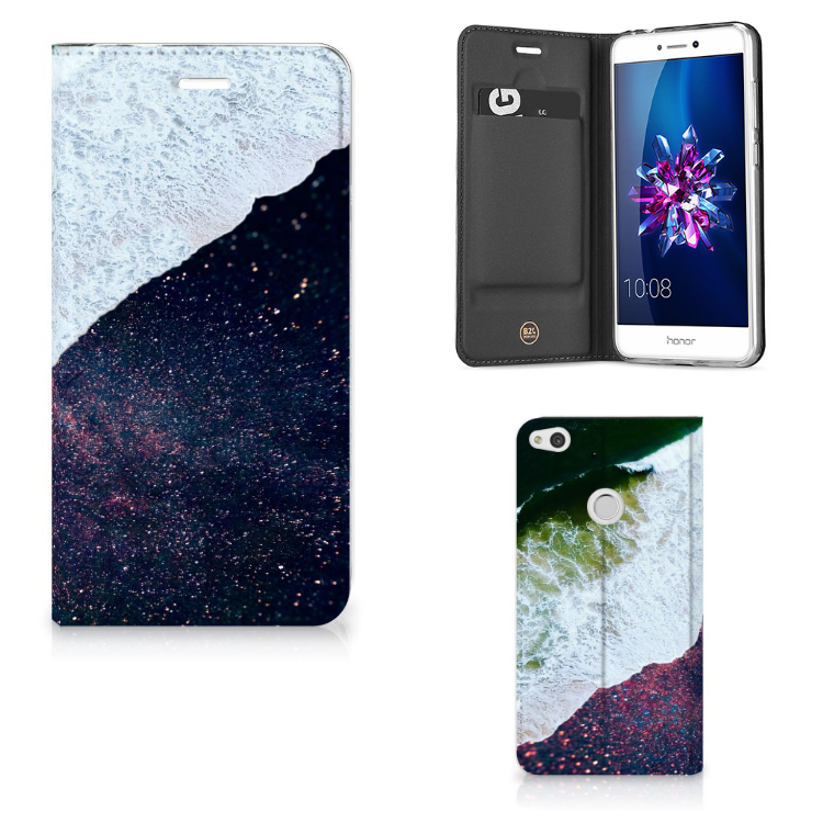 Huawei P8 Lite 2017 Stand Case Sea in Space