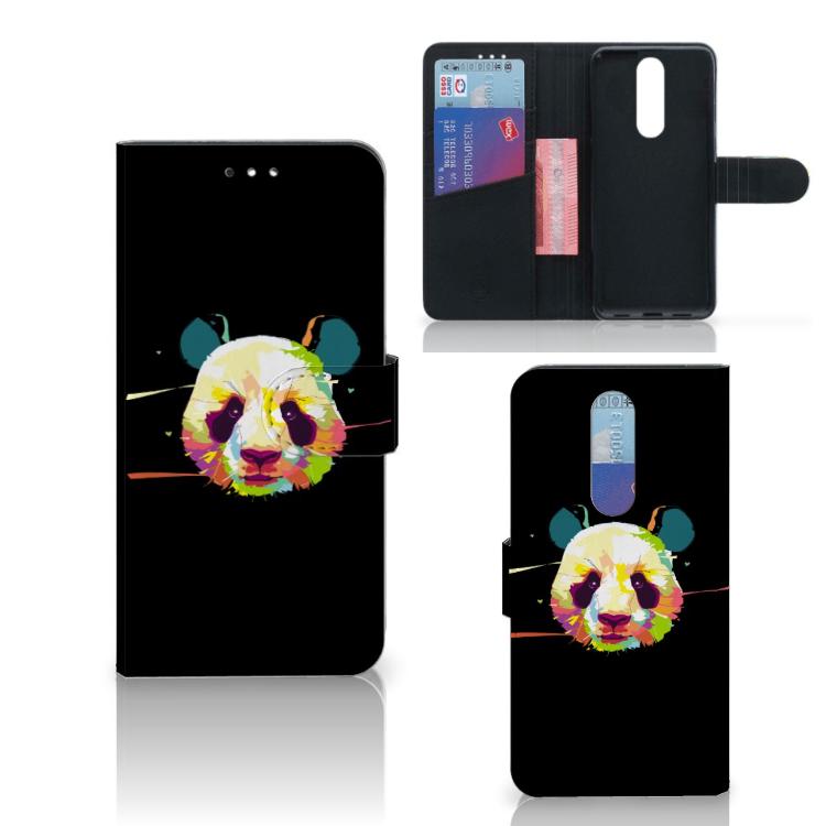 Alcatel 3 (2019) Leuk Hoesje Panda Color