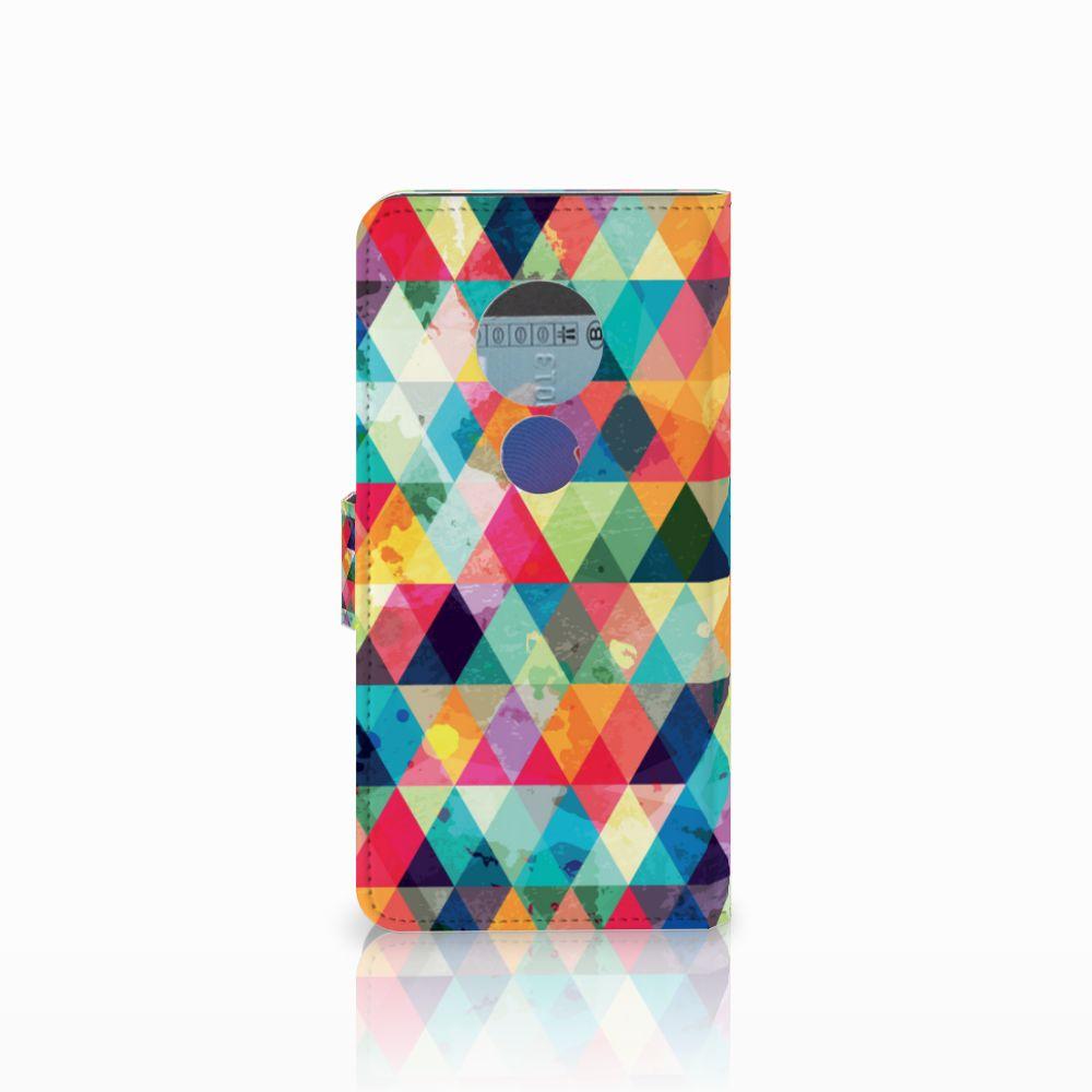 Motorola Moto E5 Telefoon Hoesje Geruit