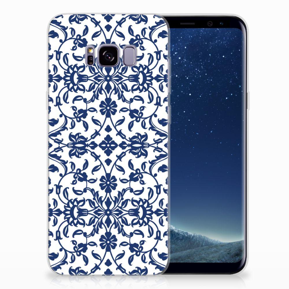 Samsung Galaxy S8 Plus TPU Hoesje Flower Blue