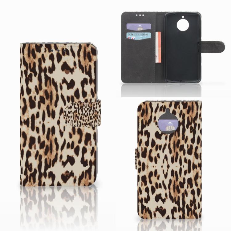 Motorola Moto E4 Plus Telefoonhoesje met Pasjes Leopard