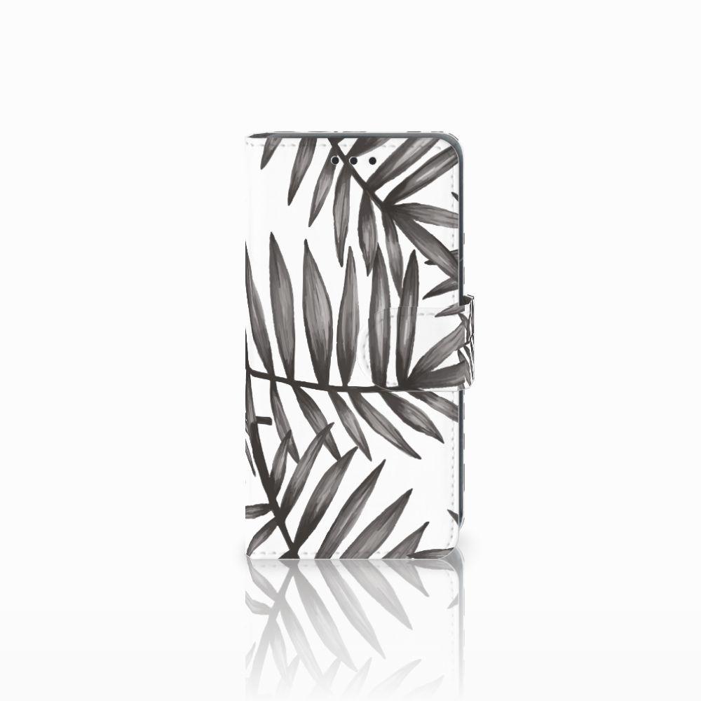 Nokia Lumia 630 Uniek Boekhoesje Leaves Grey