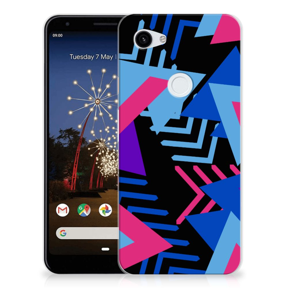 Google Pixel 3A XL TPU Hoesje Funky Triangle