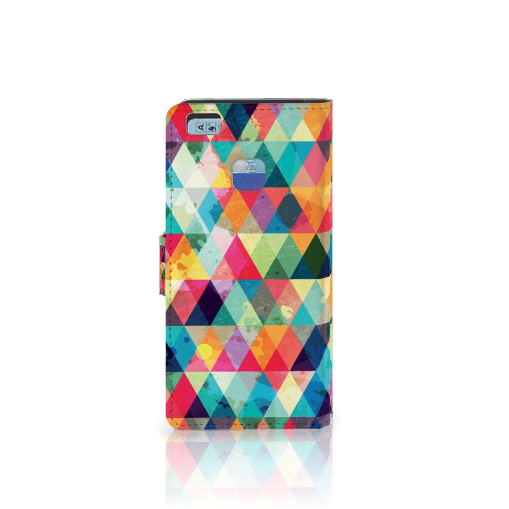Huawei P9 Lite Telefoon Hoesje Geruit