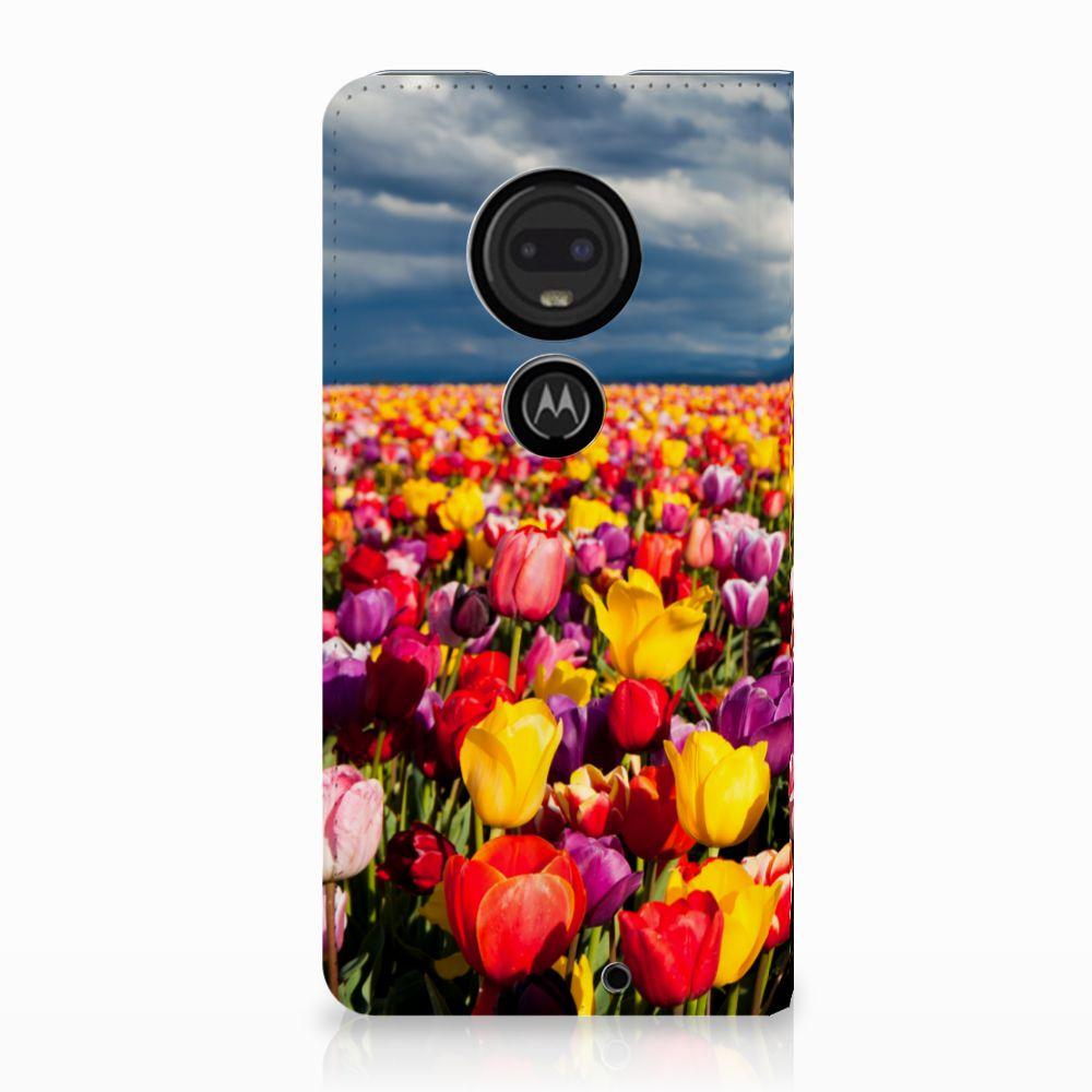 Motorola Moto G7 | G7 Plus Uniek Standcase Hoesje Tulpen