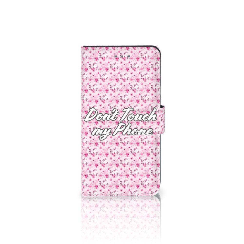 Samsung Galaxy J4 2018 Uniek Boekhoesje Flowers Pink DTMP