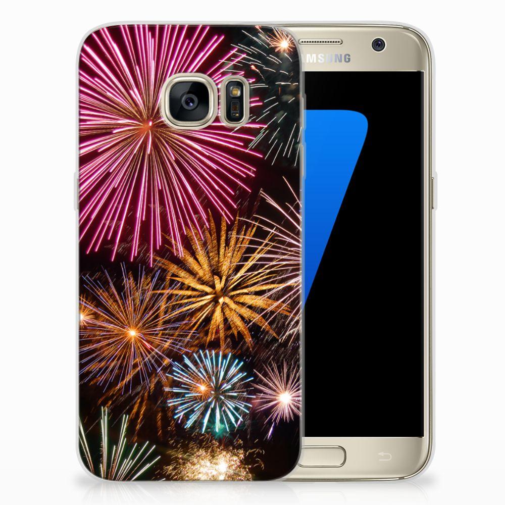 Samsung Galaxy S7 TPU Hoesje Design Vuurwerk