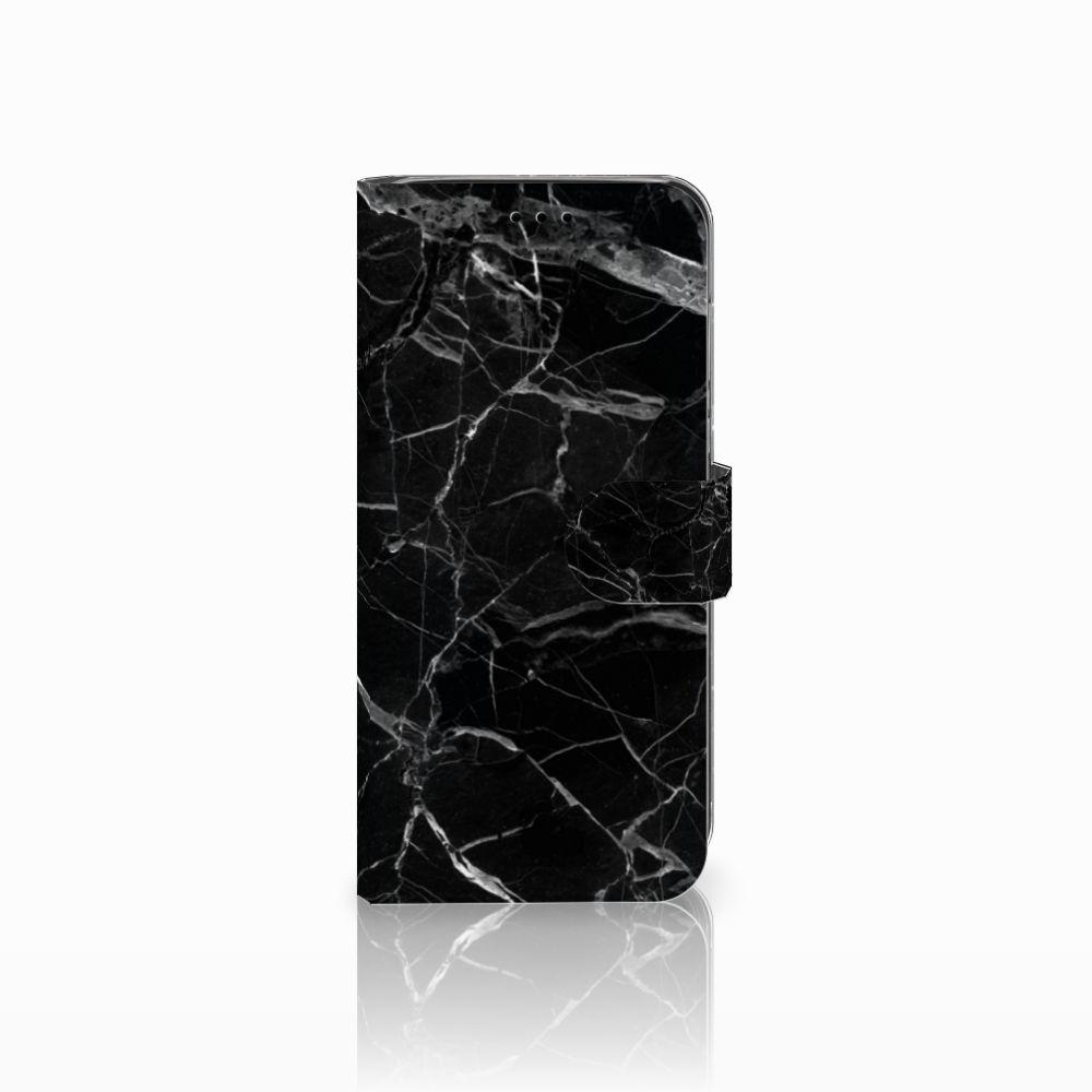 Huawei P20 Lite Uniek Boekhoesje Marmer Zwart