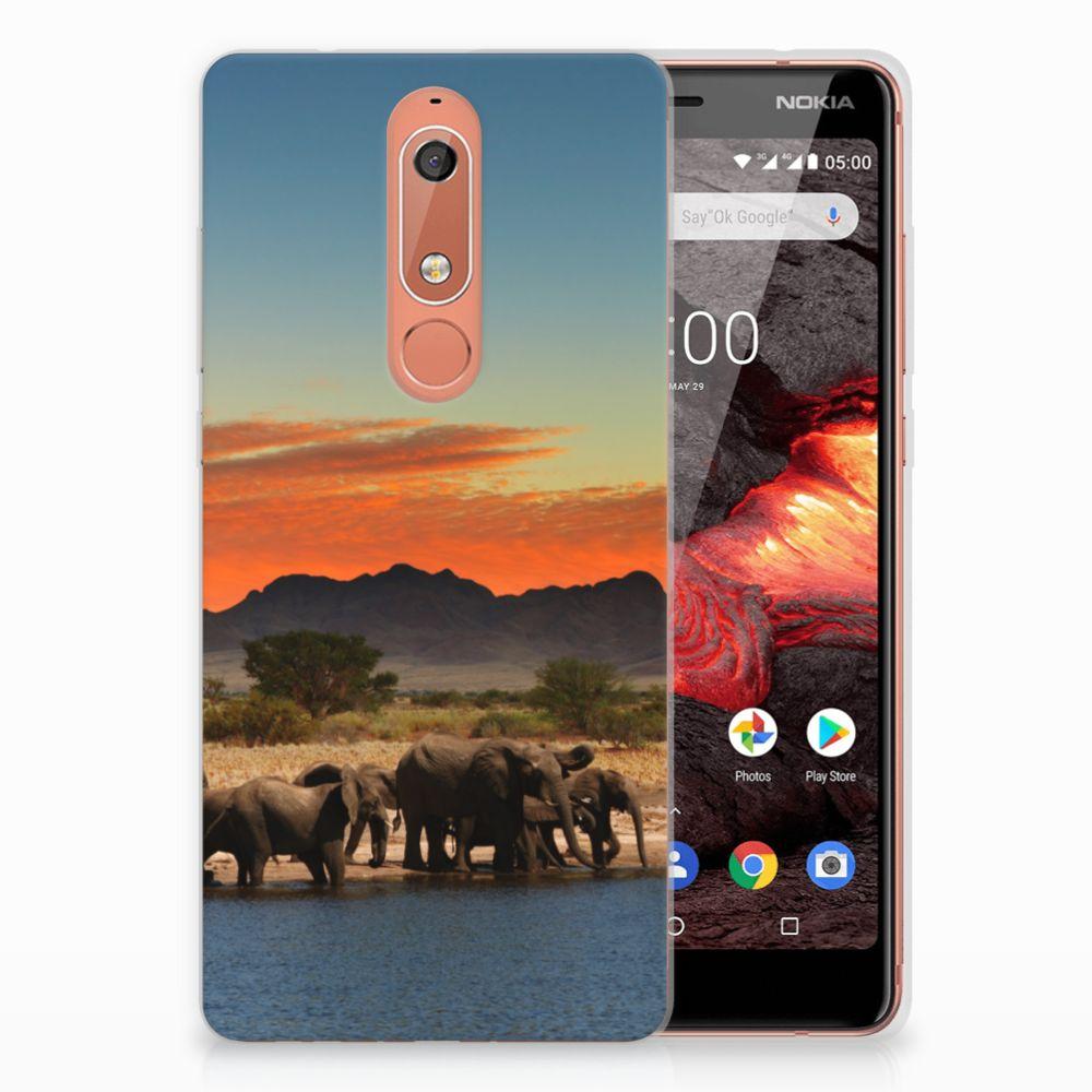 Nokia 5.1 (2018) TPU Hoesje Olifanten