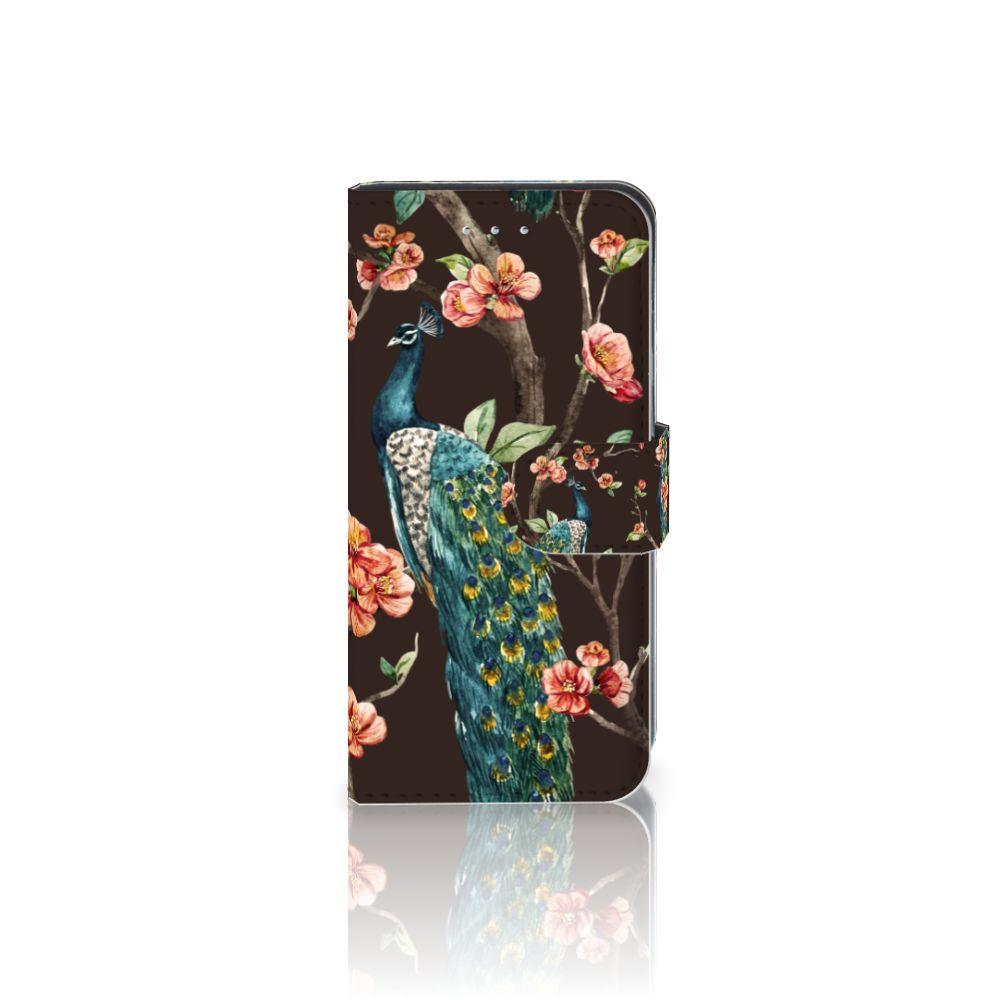 Samsung Galaxy S6 Edge Boekhoesje Design Pauw met Bloemen