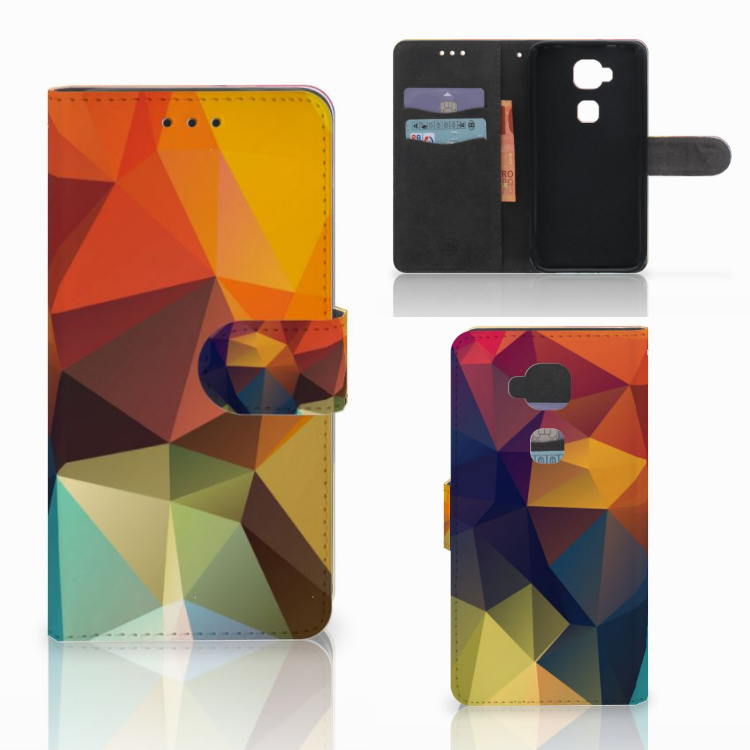 Huawei G8 Bookcase Polygon Color