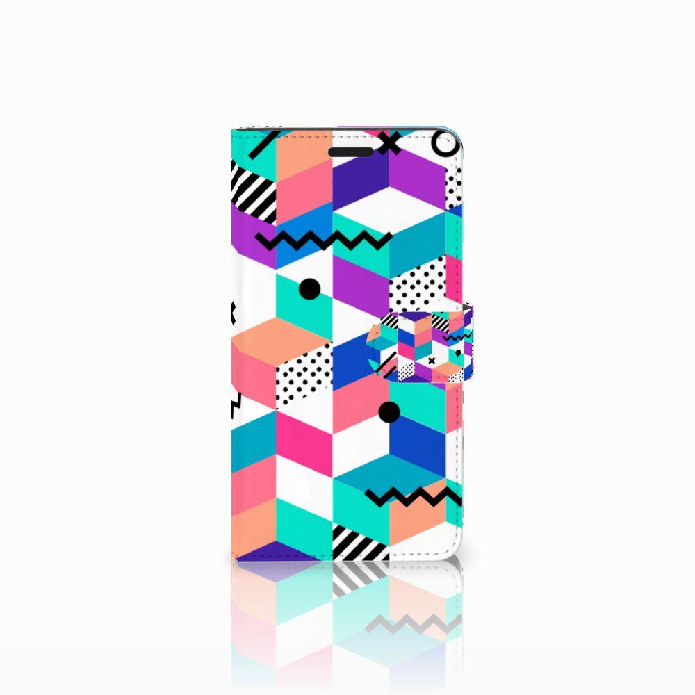 Sony Xperia T3 Boekhoesje Design Blocks Colorful