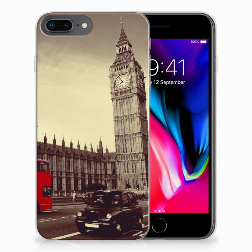 Apple iPhone 7 Plus | 8 Plus Siliconen Back Cover Londen