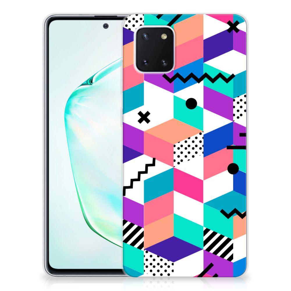 Samsung Galaxy Note 10 Lite TPU Hoesje Blokken Kleurrijk