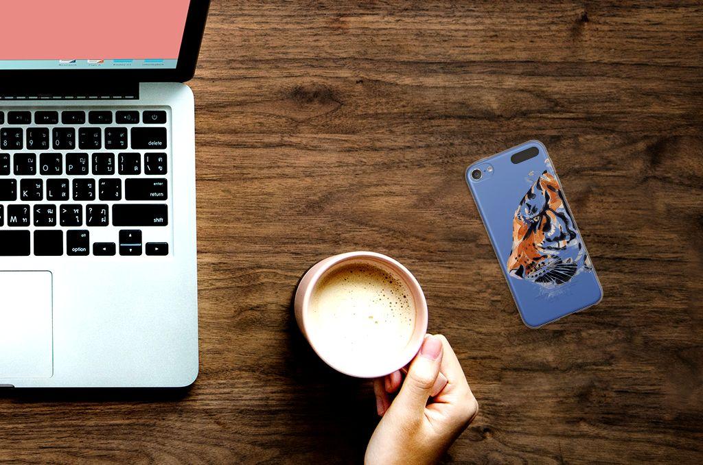 Apple iPod Touch 5 | 6 Uniek TPU Hoesje Watercolor Tiger