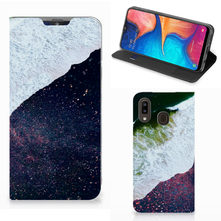 Samsung Galaxy A30 Stand Case Sea in Space