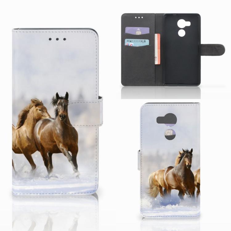 Huawei Mate 8 Telefoonhoesje met Pasjes Paarden