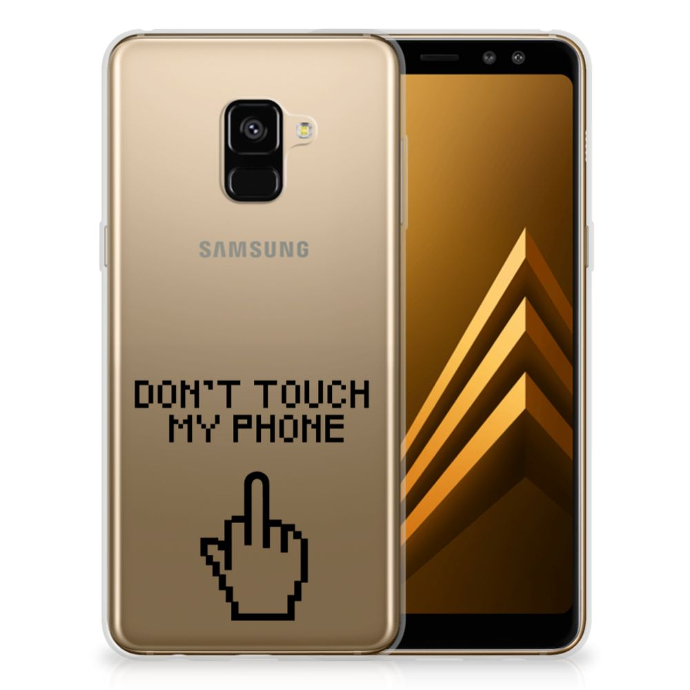 Samsung Galaxy A8 Plus (2018) Silicone-hoesje Finger DTMP