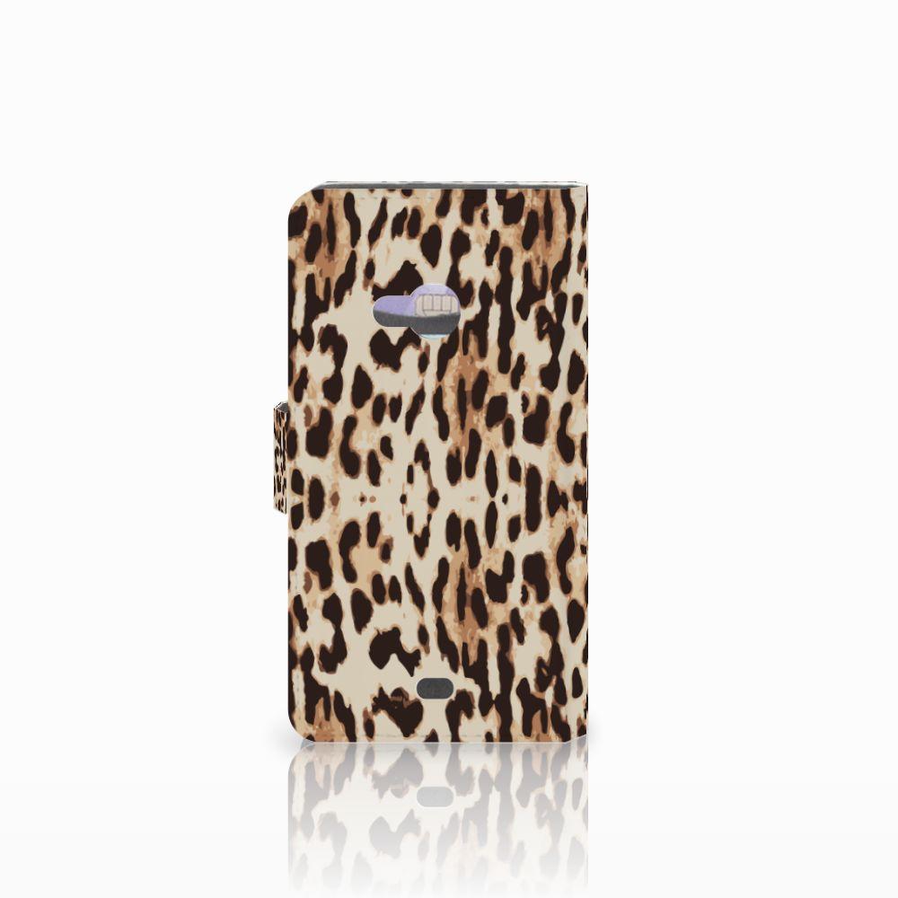 Microsoft Lumia 535 Telefoonhoesje met Pasjes Leopard