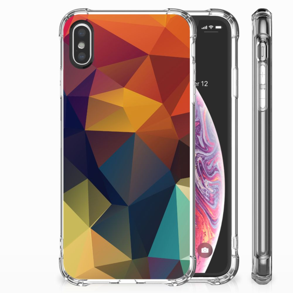 Apple iPhone X | Xs Shockproof Case Polygon Color