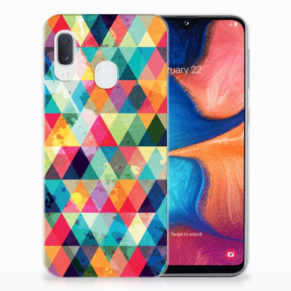 Samsung Galaxy A20e TPU bumper Geruit