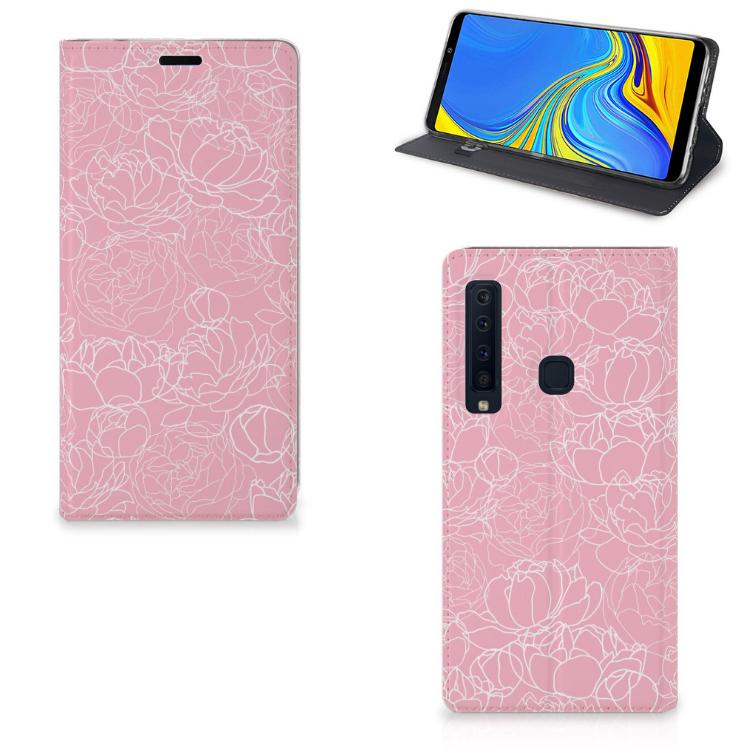 Samsung Galaxy A9 (2018) Telefoon Hoesje White Flowers