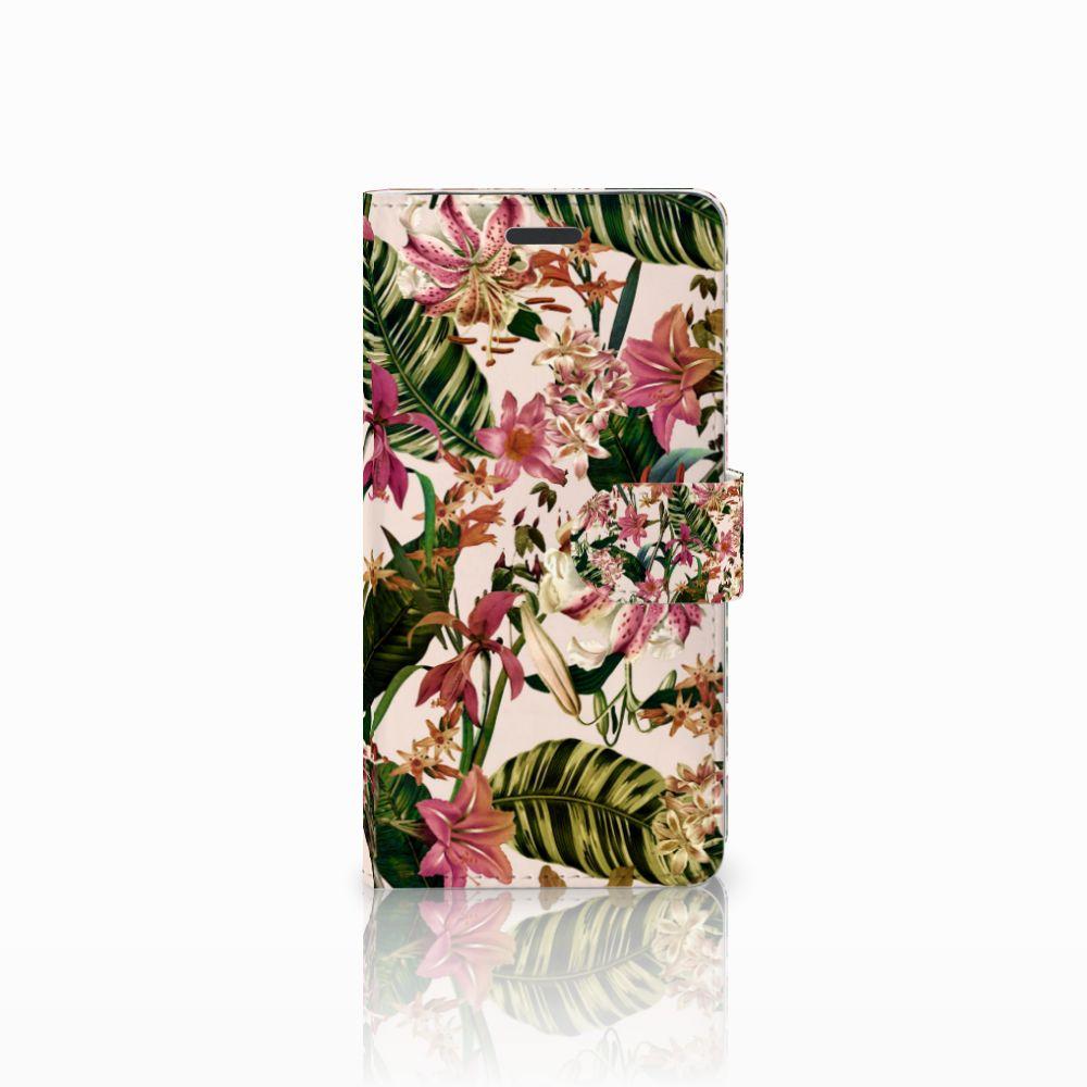Samsung Galaxy Note 5 Uniek Boekhoesje Flowers