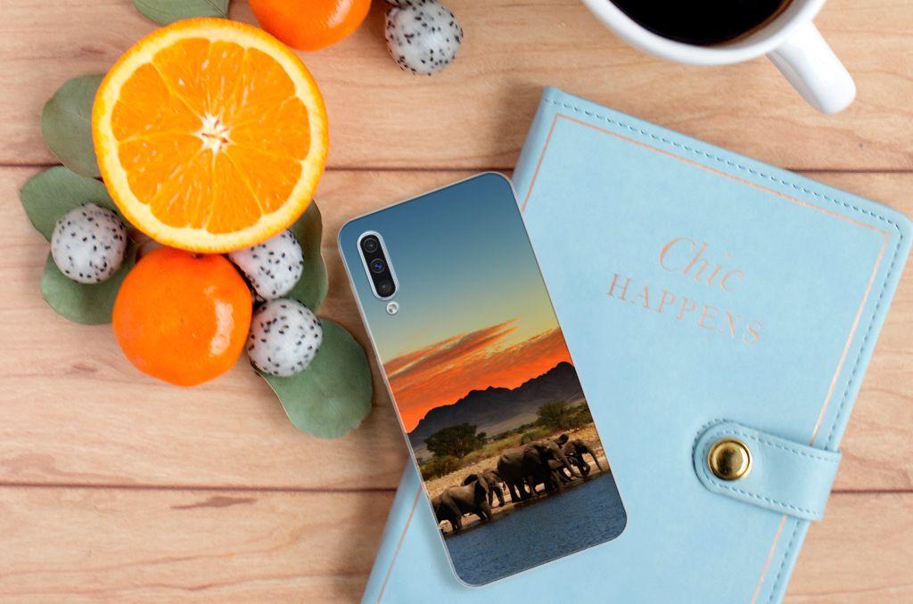 Samsung Galaxy A50 TPU Hoesje Olifanten