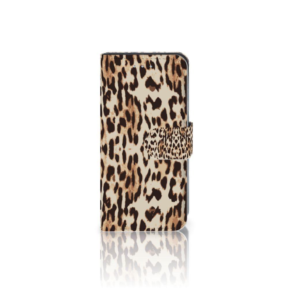 Samsung Galaxy S6 Edge Uniek Boekhoesje Leopard