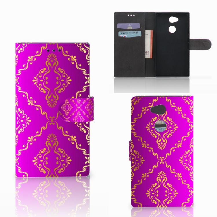 Wallet Case Sony Xperia L2 Barok Roze
