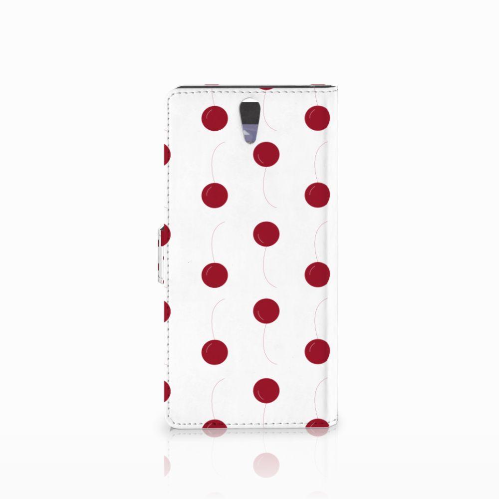 Sony Xperia C5 Ultra Book Cover Cherries