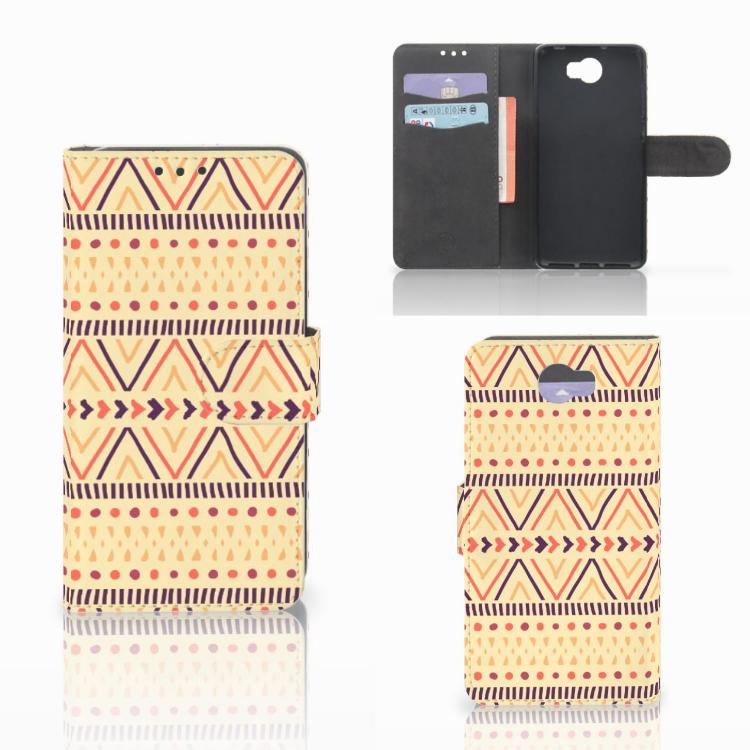 Huawei Y5 2   Y6 II Compact Telefoon Hoesje Aztec Yellow