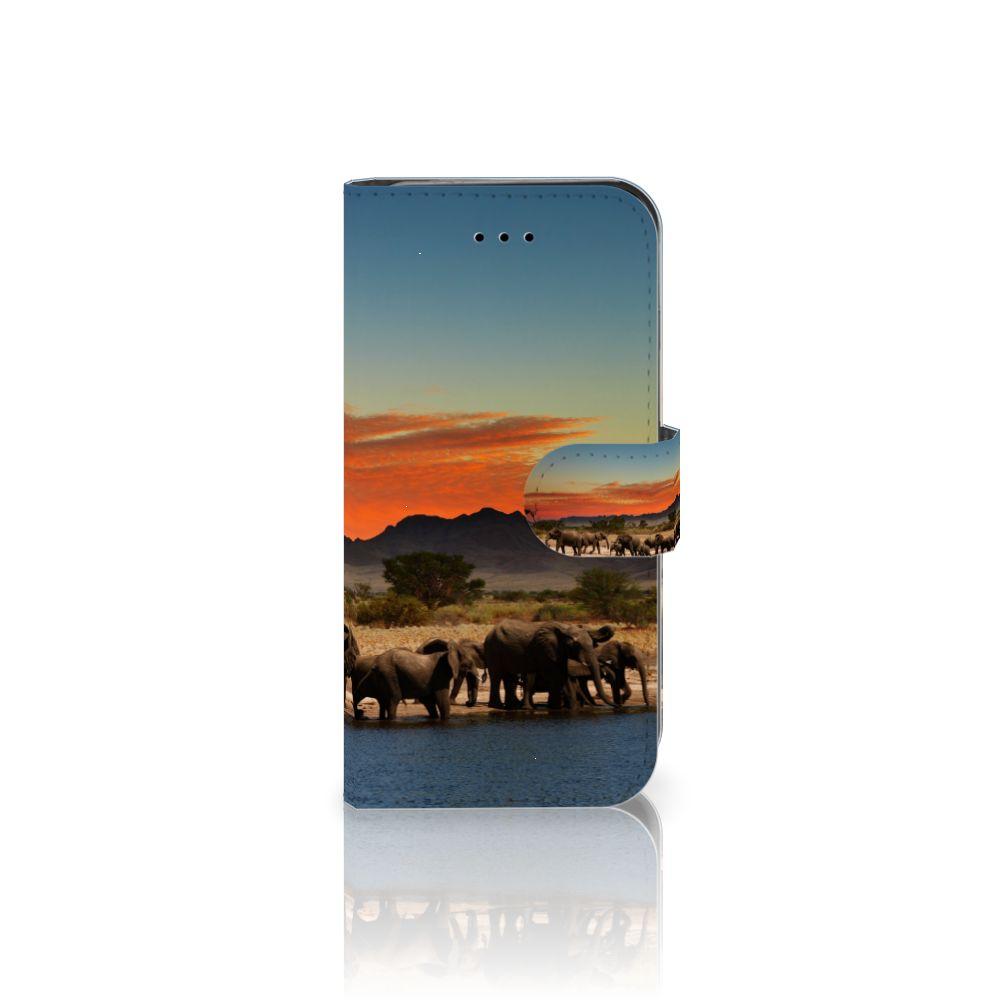 iPhone 7 | 8 | SE (2020) Telefoonhoesje met Pasjes Olifanten