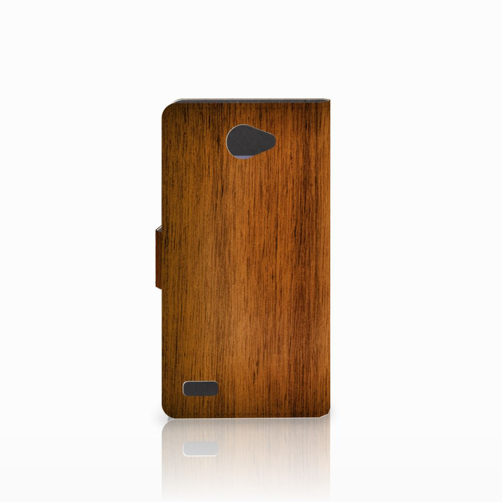 LG Bello 2 Book Style Case Donker Hout